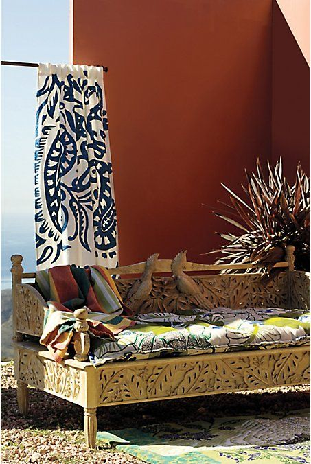 boho daybed - anthropologie. DaybedAnthropologyLiving SpacesOutdoor ... - Boho Daybed - Anthropologie Boho Luxe Interiors Pinterest