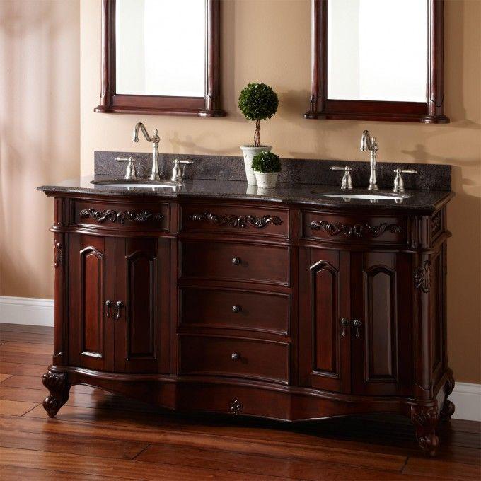 "Ari Kitchen & Bath Danny 60"" Double Bathroom Vanity Set ..."
