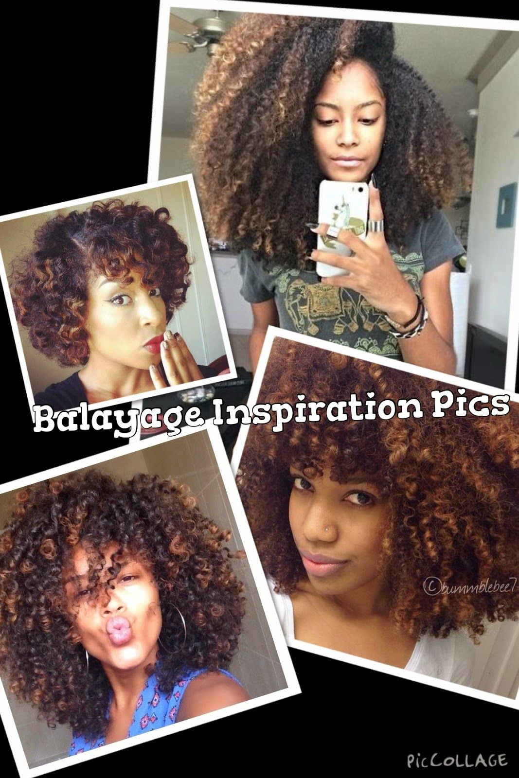 Balayage Results On Natural African American Hair African