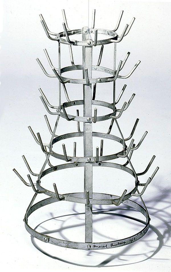 """Znalezione obrazy dla zapytania Marcel Duchamp, """"Porte-bouteilles"""""""