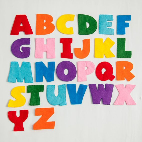 Felt Letters Stuffed Letters Letters For Kid Educational Toy