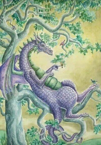 Blue Dragon in Repose