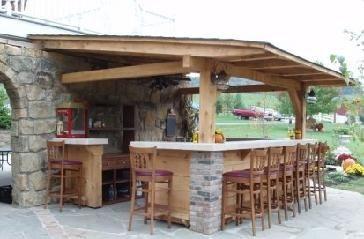 Roof Overhang On Bar Seems Good Outdoor Kitchen Outdoor Kitchen Bars Backyard