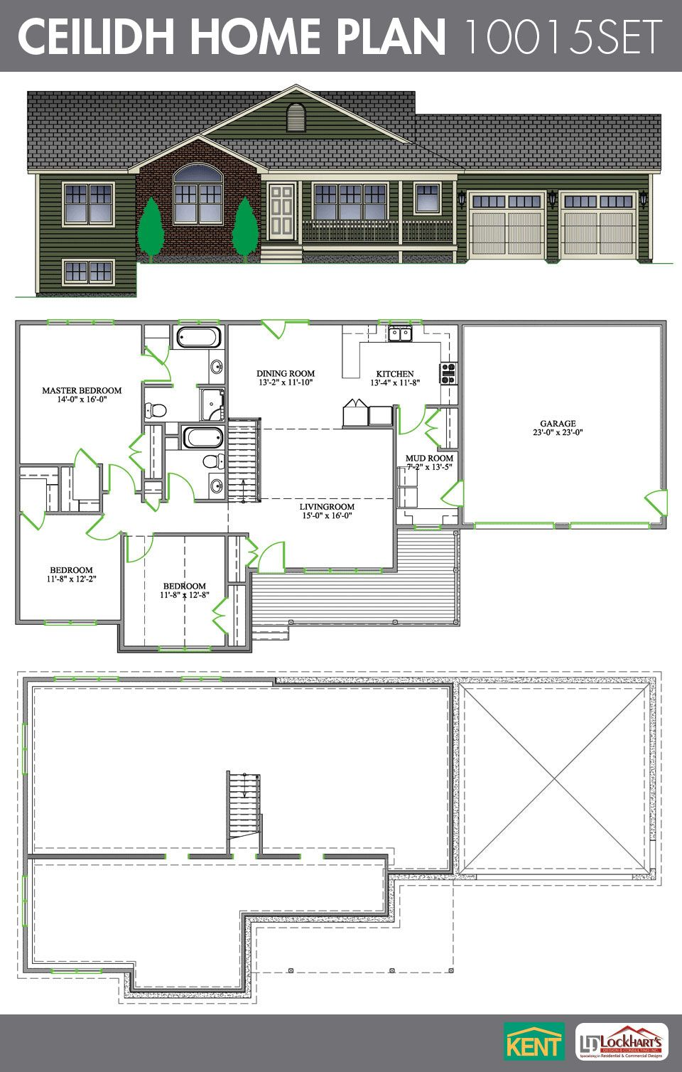 céilidh 3 bedroom 2 bathroom home plan features large master