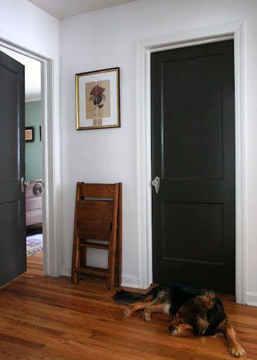 painted two panel door