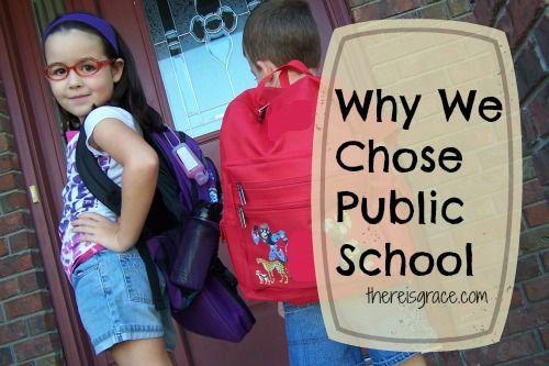 Why We Chose Public School: The Great {Education} Debate