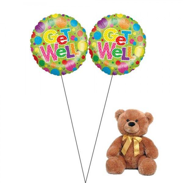 Get Well Bear Get Well Balloons Balloon Arrangements Balloon Delivery