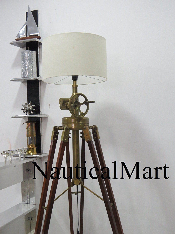 Nauticalmart Royal Marine Tripod Floor Lamp Home Decor In 2020 Floor Lamp Tripod Lamp Floor Standing Lamps
