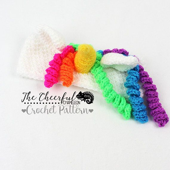 Unicorn Crochet Pattern - Ear Warmer Pattern - Unicorn Crochet ...