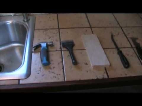 This video demonstrates an easy way to remove tile backsplash while