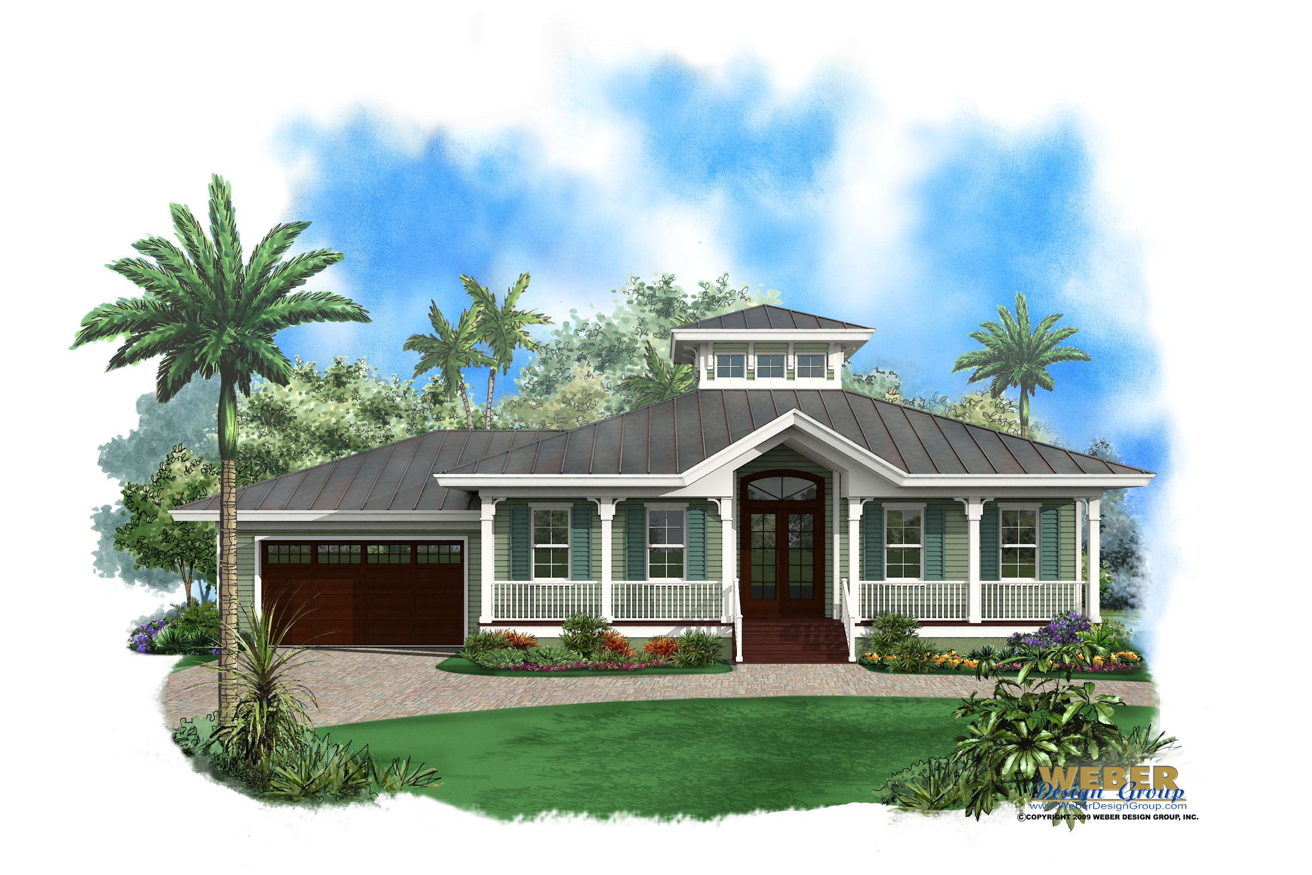 Beach House Plan 1 Story Old Florida Style Coastal Home