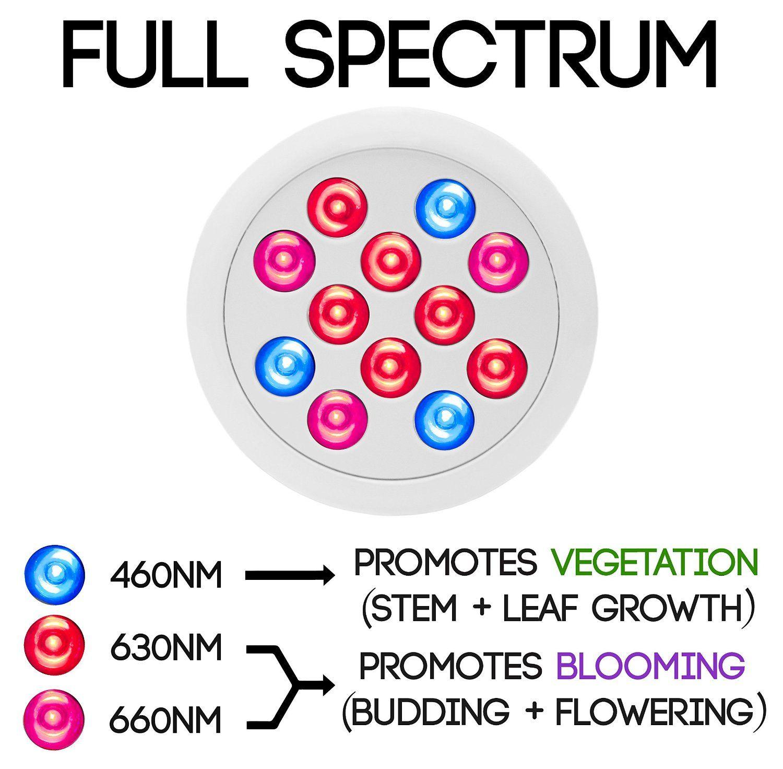 Amazon.com : Vintage Grow HIGH YIELD Full Spectrum Hydroponics LED ...