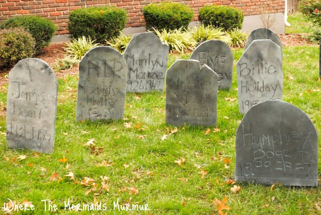 Where The Mermaids Murmur...: DIY Tombstone and Graveyard