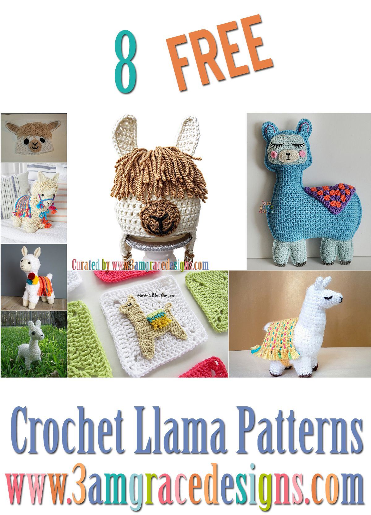 Crochet Roundup – Crochet Llama Patterns | Free Kawaii Cuddlers ...