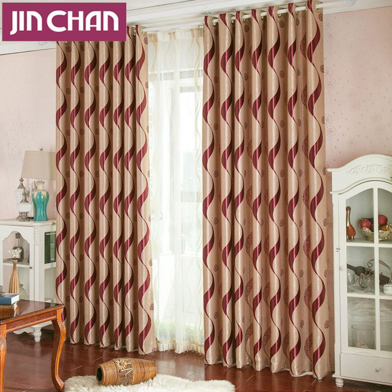 Modern Luxury Stripe Suede Blackout Window Curtains Drapes Shades For  Living Room Bedroom Kitchen , Grommet
