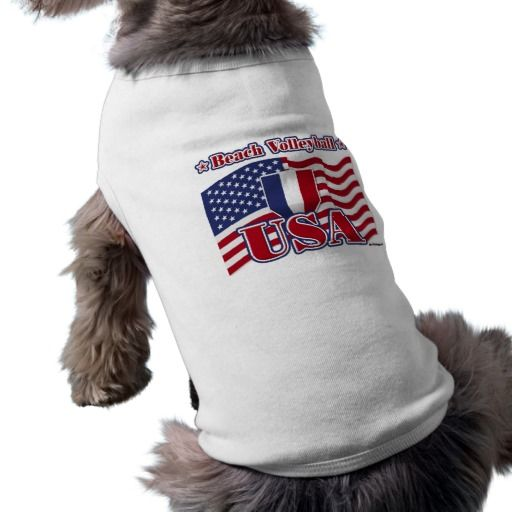 Beach Volleyball USA Doggie T-shirt   •   This design is available on t-shirts, hats, mugs, buttons, key chains and much more   •   Please check out our others designs at: www.zazzle.com/ZuzusFunHouse*