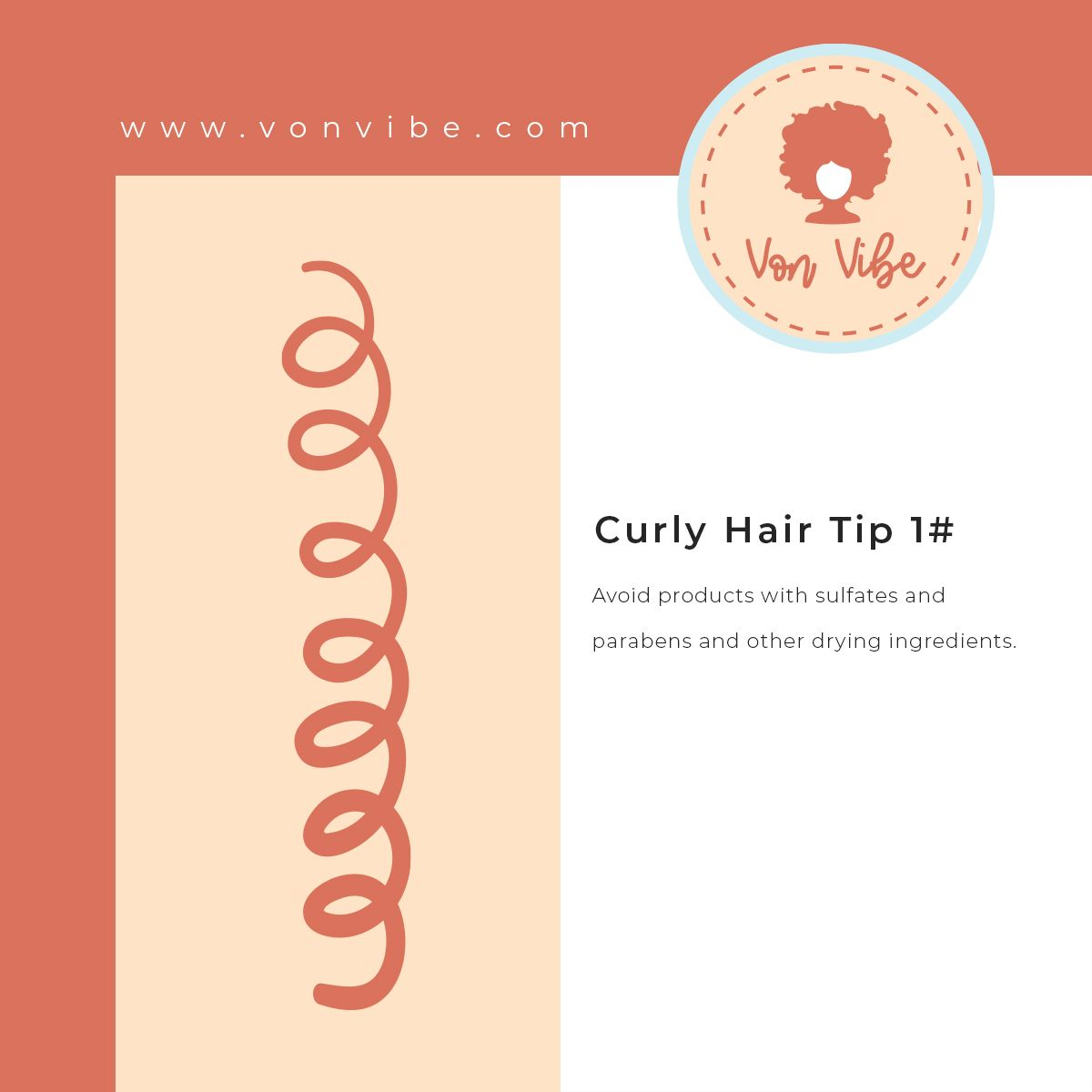Here's today's tip. Feel free to visit our website to explore our full hair guide.  _ _ #healthyhair  #naturalhairguide #hairtips #NourishTheirConfidence #naturalhairloves #naturalhairgoals #vonvibe #naturalcurlyhair #hairtips #shinyhair #loveyourhair #hairspiration #curlygirls #fro #afro