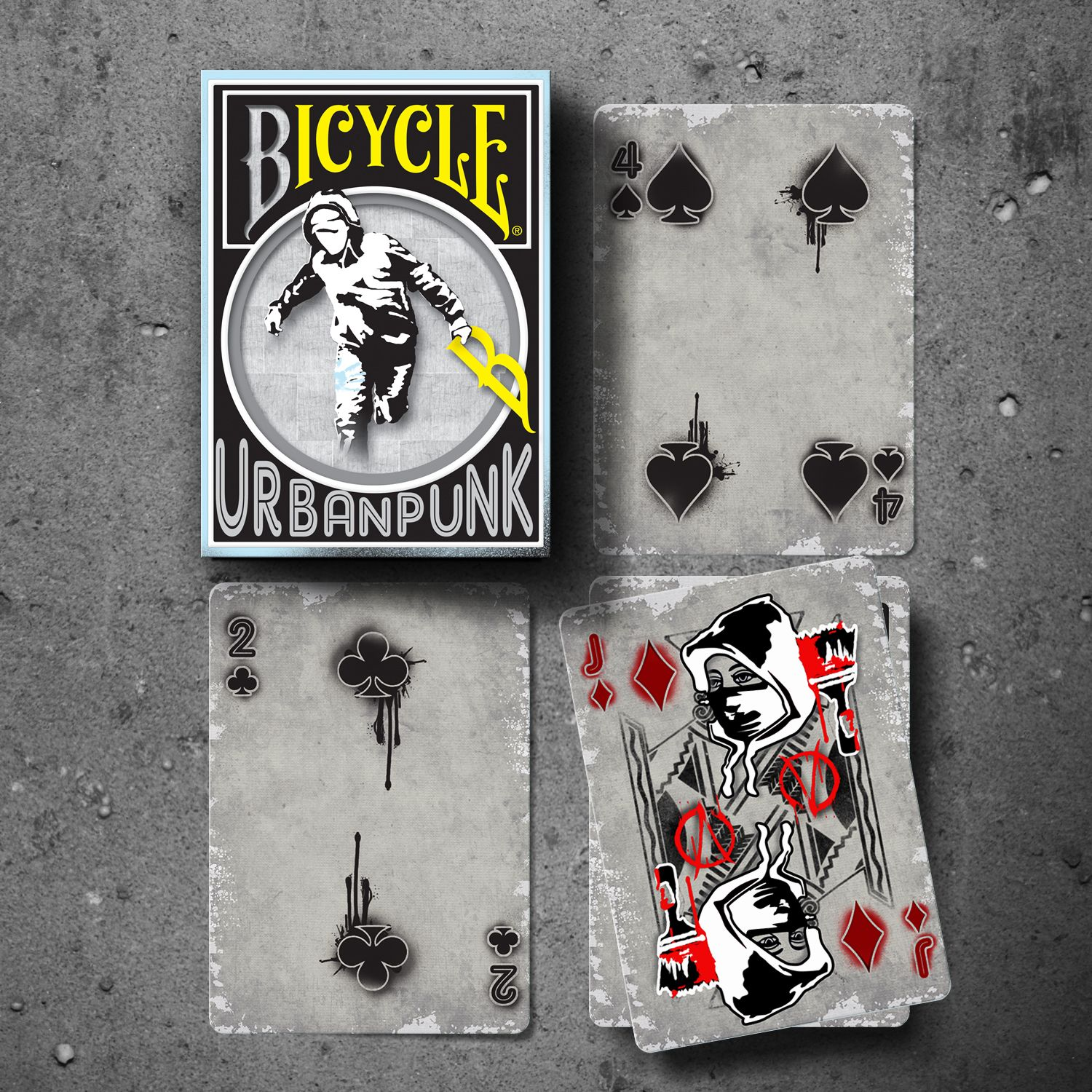 Limited edition urban punk playing cards playing cards