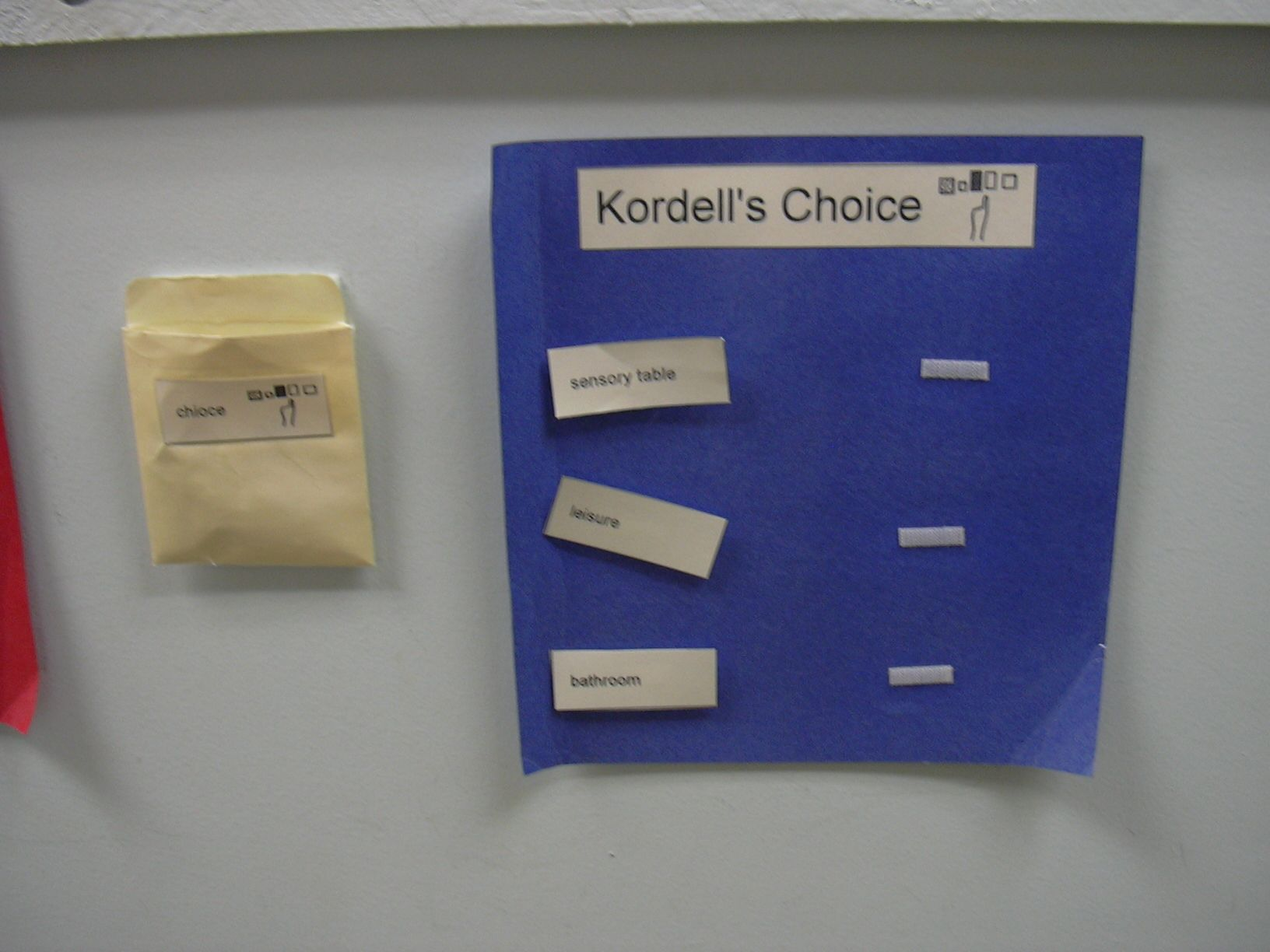 Choice Board This Is Part Of A Visual Student Schedule