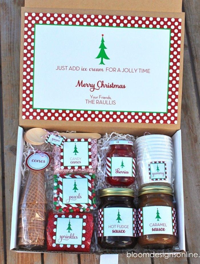 Christmas Sundaes Homemaking, Glue guns and Gift