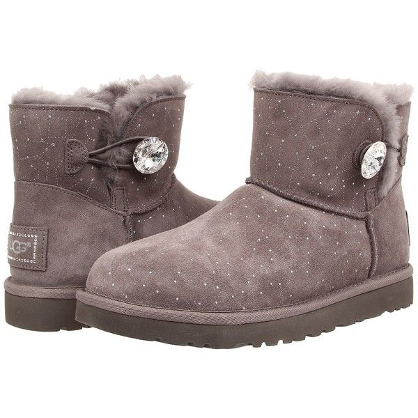 UGG Mini Bailey Button Bling Constellation Women's Boots ($210) ❤ liked on  Polyvore featuring
