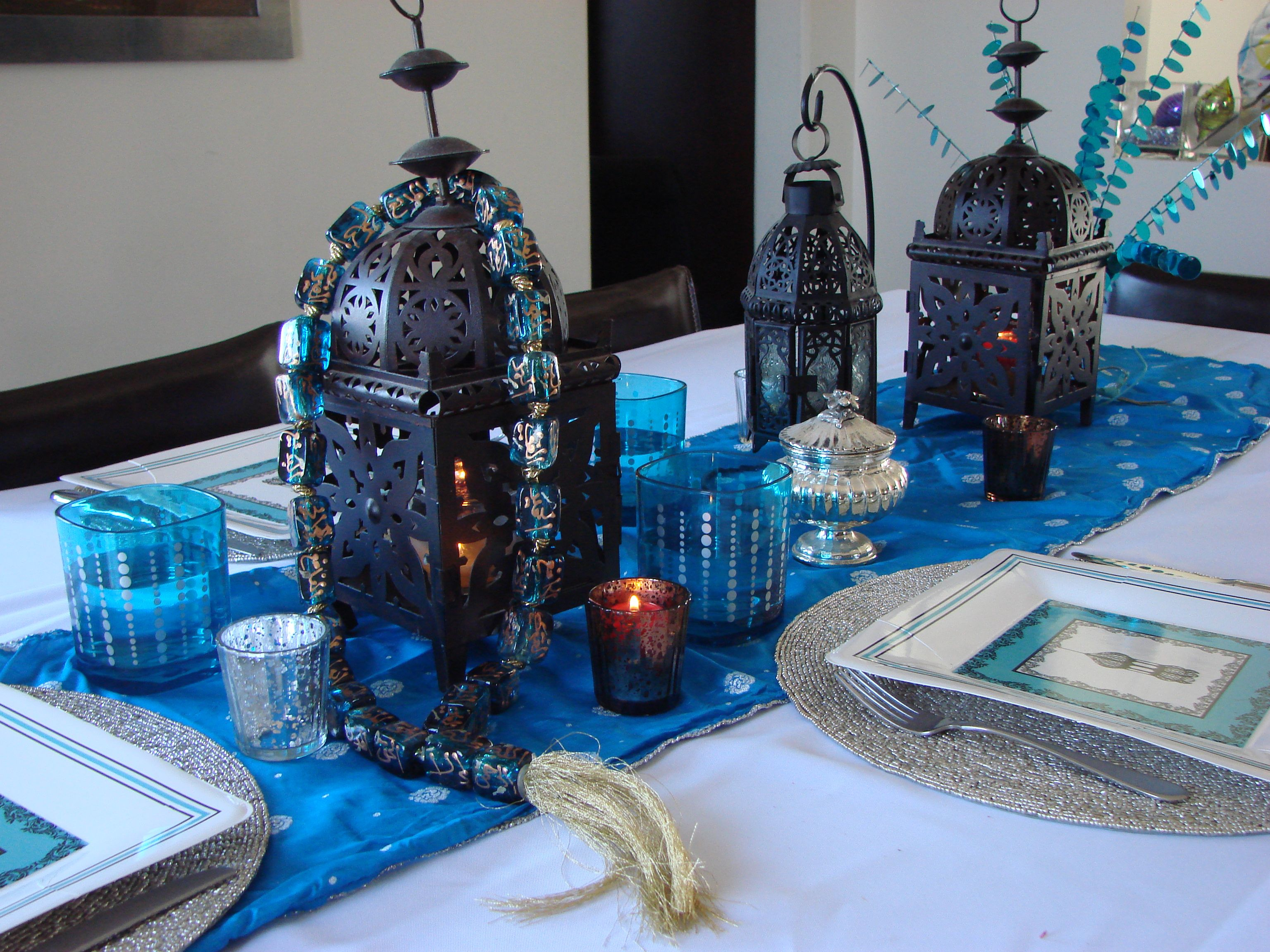 Use your own accessories at home along with eid creations for Ramadan decorations at home