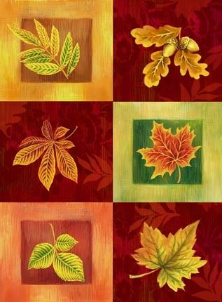 Fall Leaves In Six Boxes By Elena Vladykina Ruth Levison Design Autumn Leaves Decoupage Vintage Fall Cards