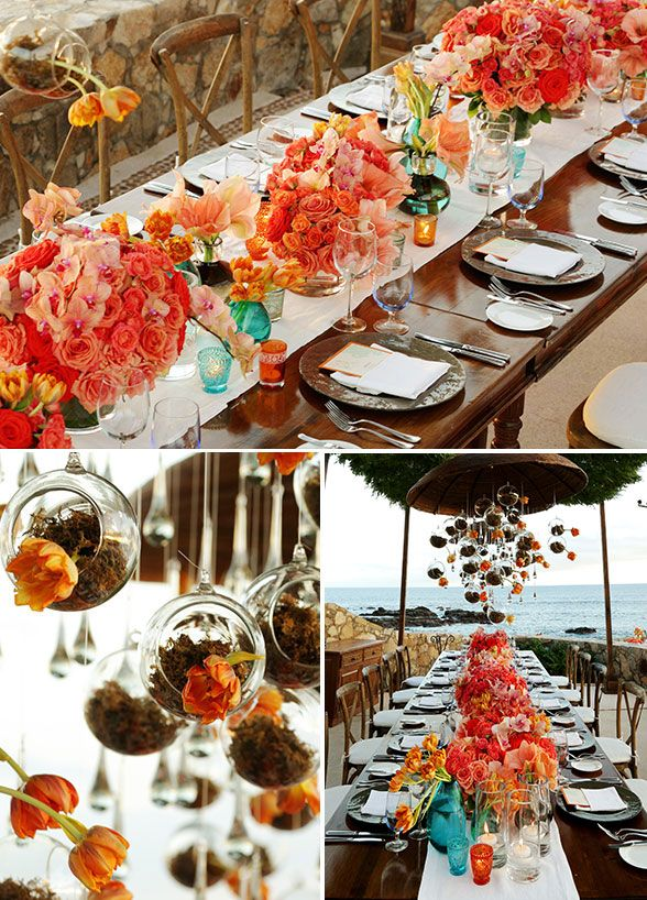 Beautiful table decor details from this mexico destination wedding beautiful table decor details from this mexico destination wedding check out the full wedding gallery junglespirit Image collections