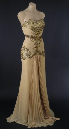Hollywood style vintage evening dresses