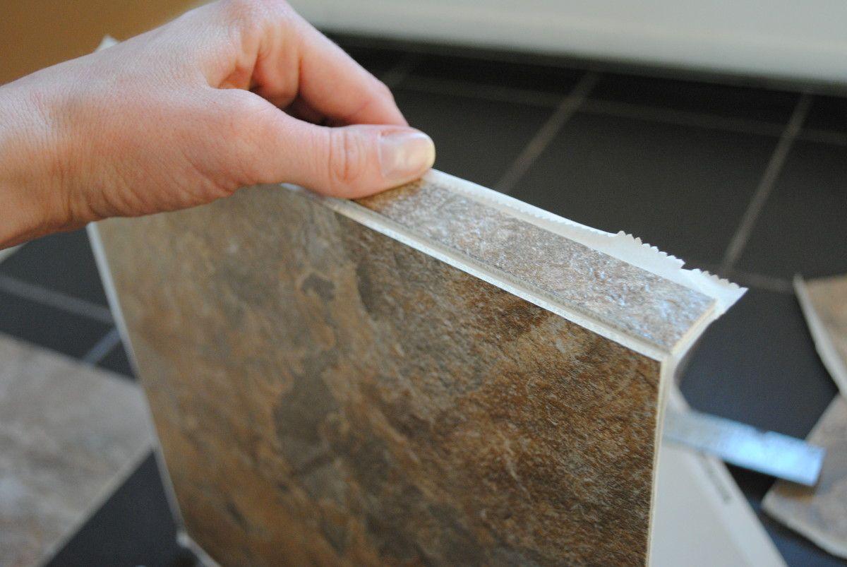 Diy how to install groutable vinyl floor tile groutable