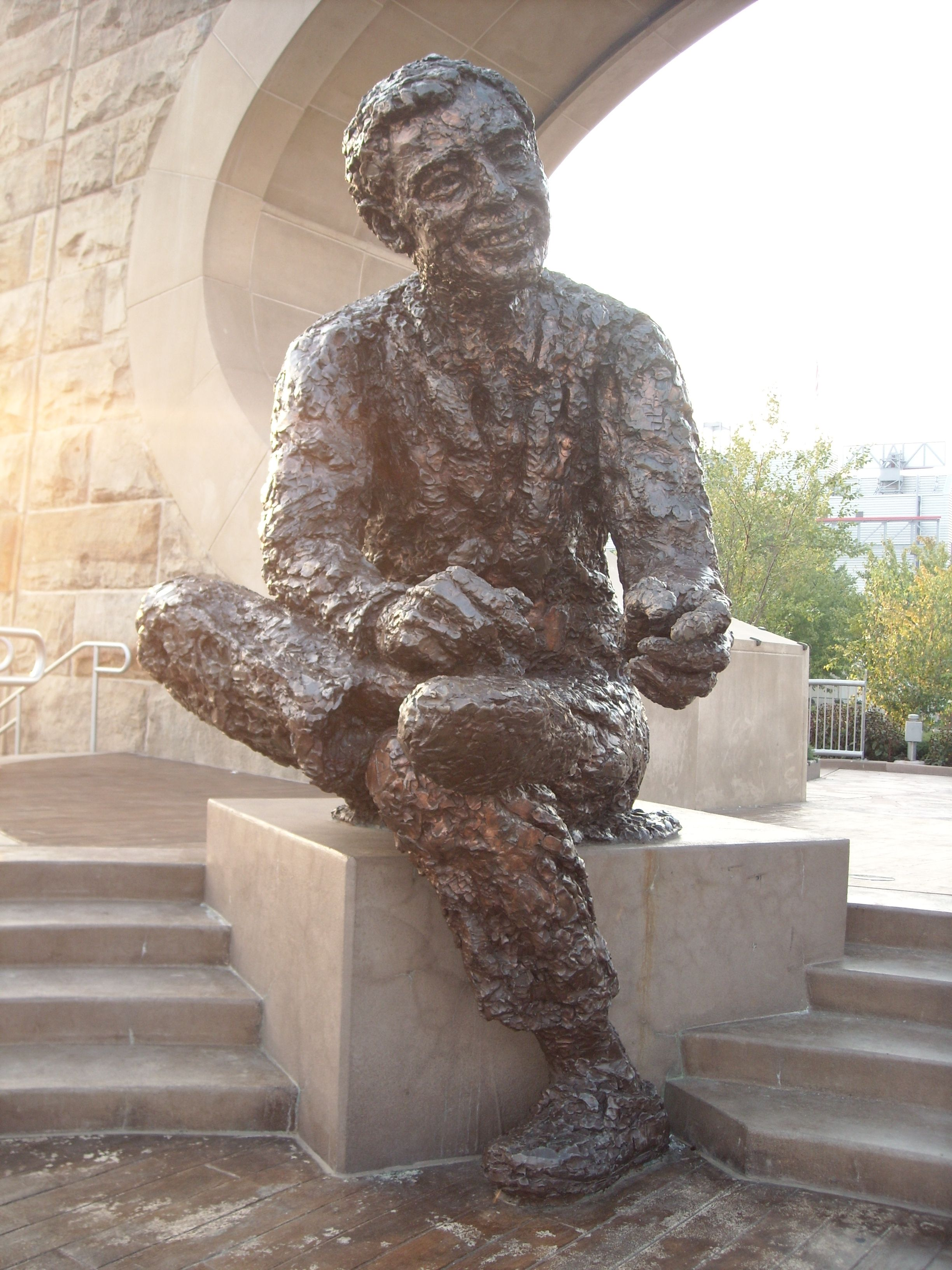 Mr Rogers Statue At The Point Going This Week Memorial Statues Garden Art Sculptures Mister Rogers Neighborhood