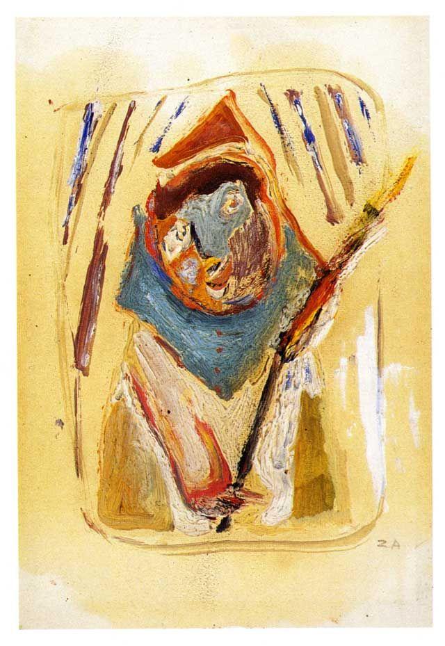 1943.11.18 Cesare Zavattini, Figura con candela