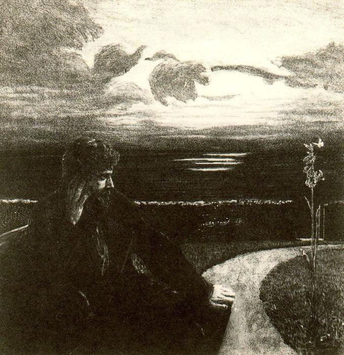 """""""Night 3"""" von Max Klinger (1857-1920, Germany)"""