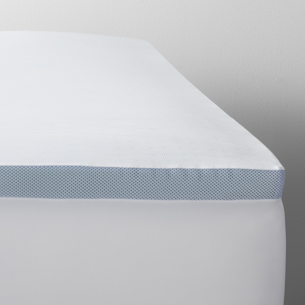 Queen 2 Cooling Gel Mattress Topper White Made By Design My
