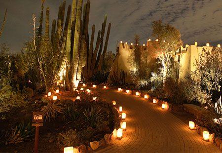 Festival Las Noches De Las Luminarias, A Holiday Season Specialty At Desert Botanical  Gardens With Thousands Of Lights.