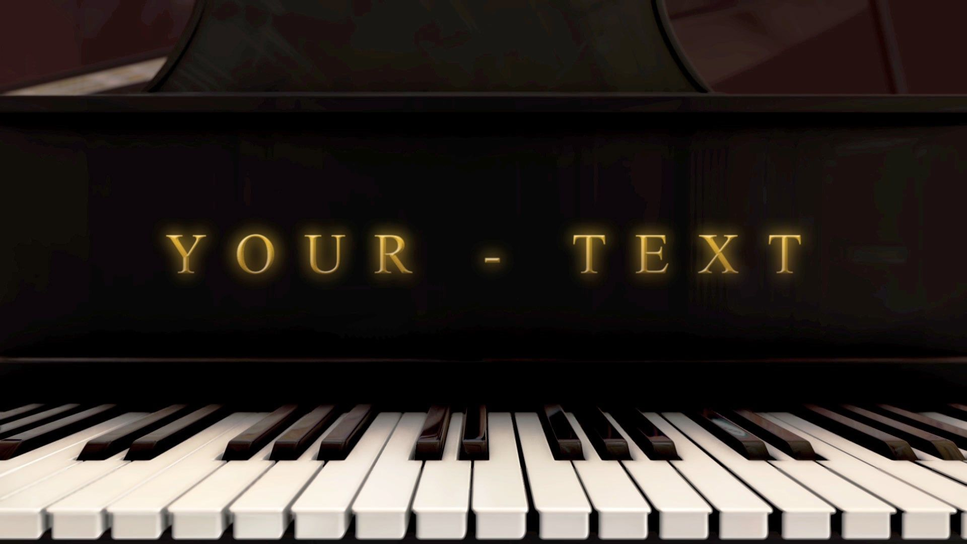 Piano Logo Animation Classic Music After Effects