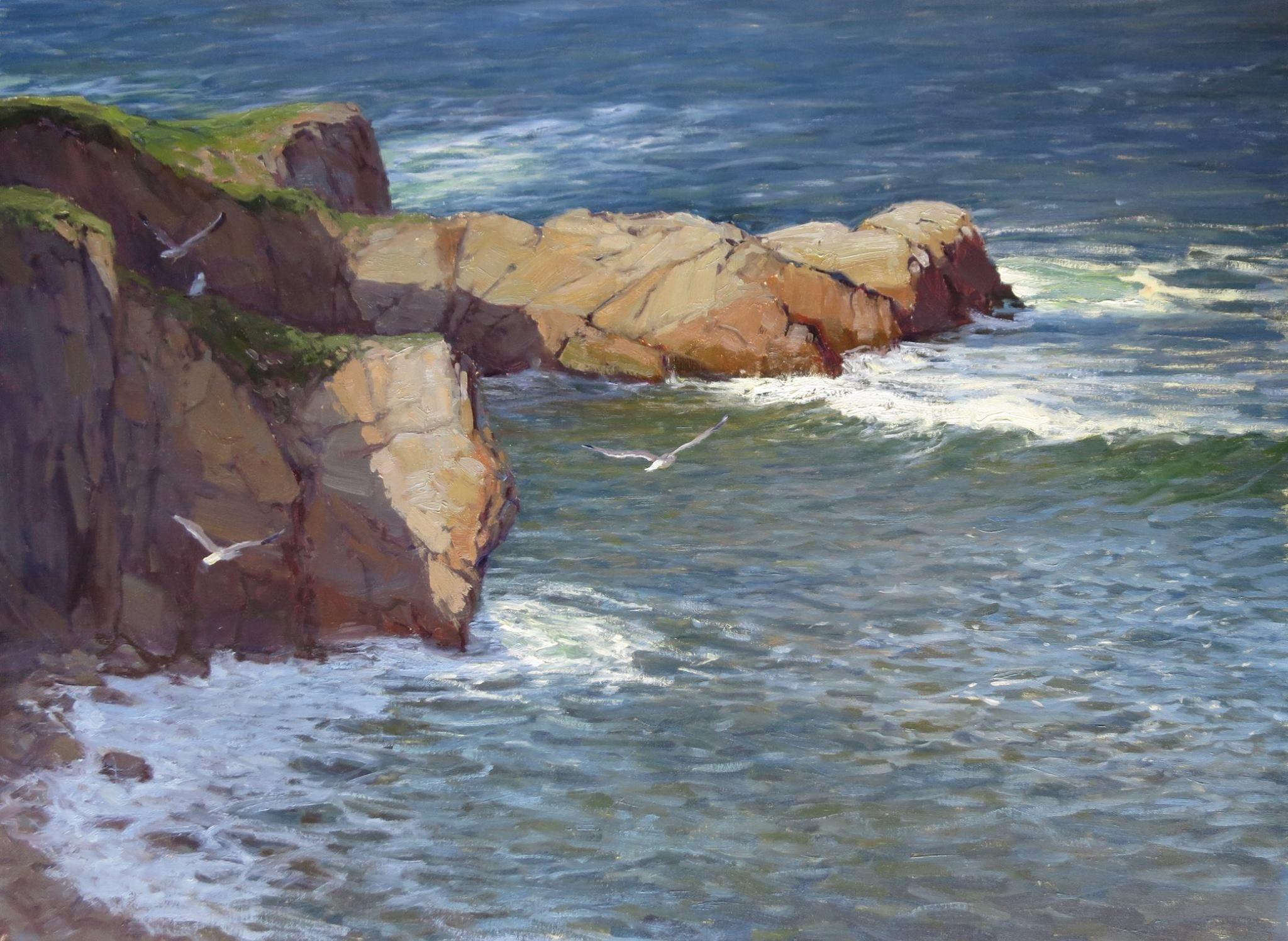 "Kathleen Dunphy, ""Sentinels of the Tide"" 30x40"