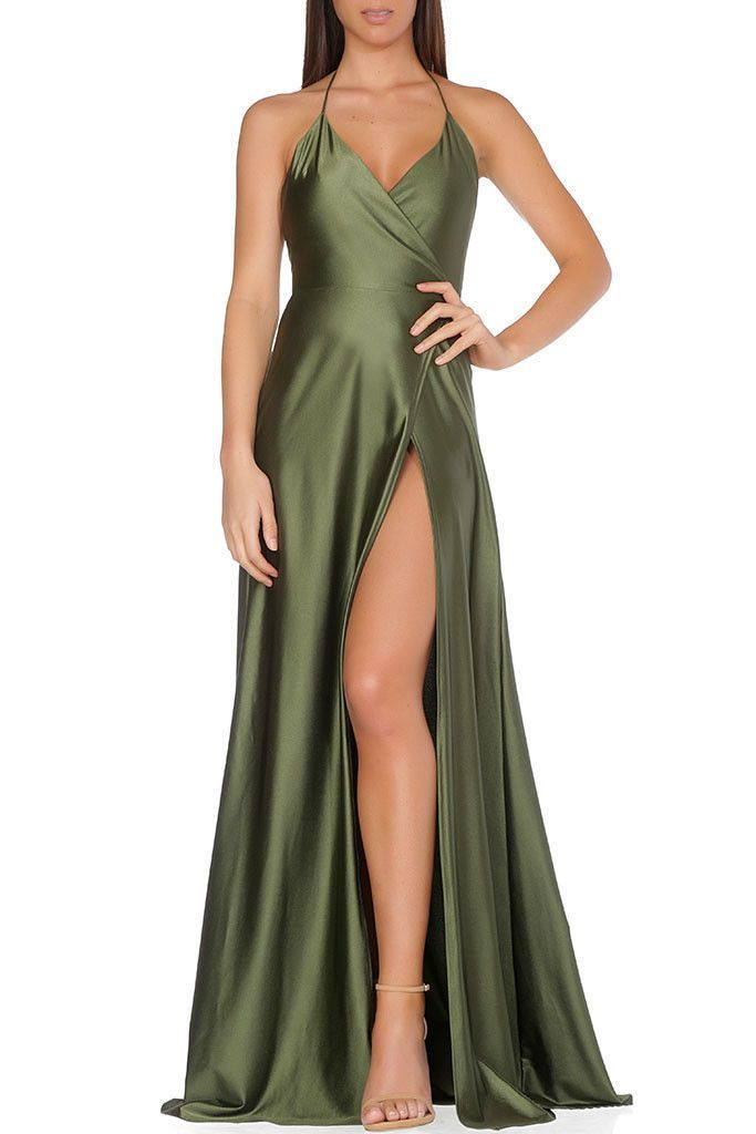 Olivia Evening Gown Olive Green Prom Dress Evening Gowns Evening Dresses