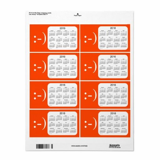 2016 orange red calendar by janz label shipping label all business