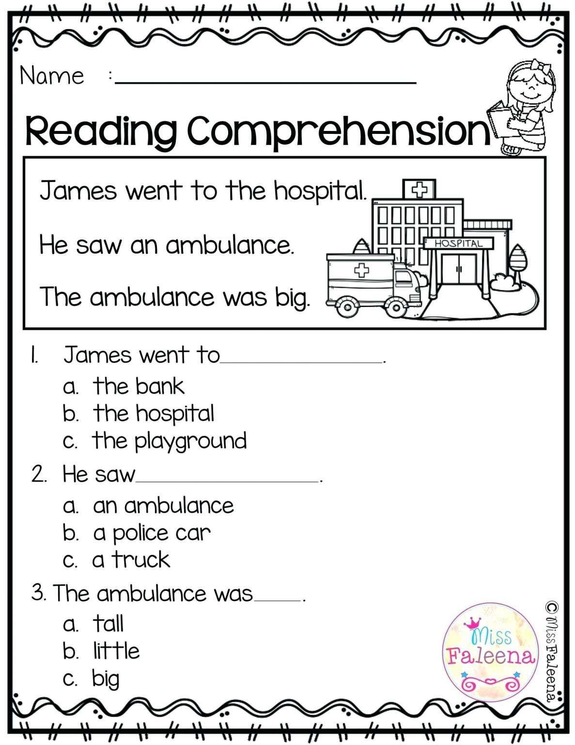 Simple Reading Worksheets For Kindergarten