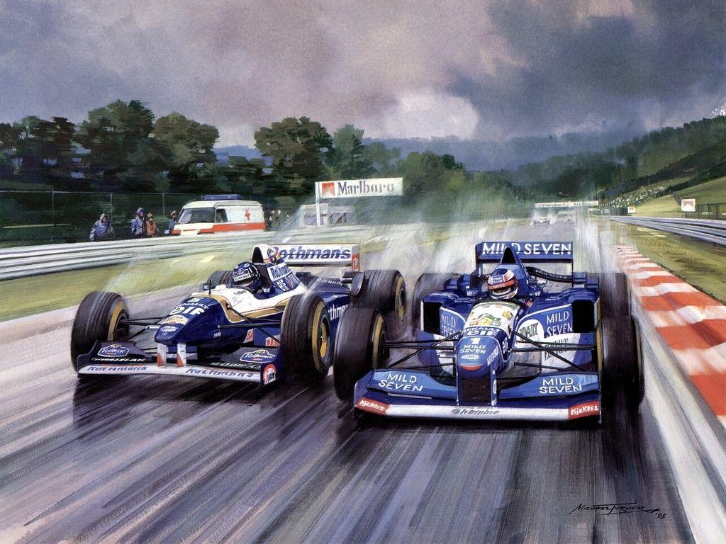 Michael Turner (b.1934) — Hill And Schumacher 1995 Spa