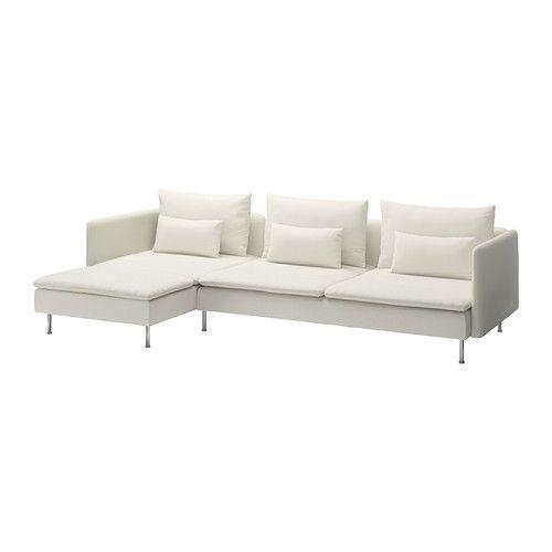 Schlafsofa ikea weiß  SÖDERHAMN 3er-Sofa und Récamiere - Gräsbo weiß - IKEA ...