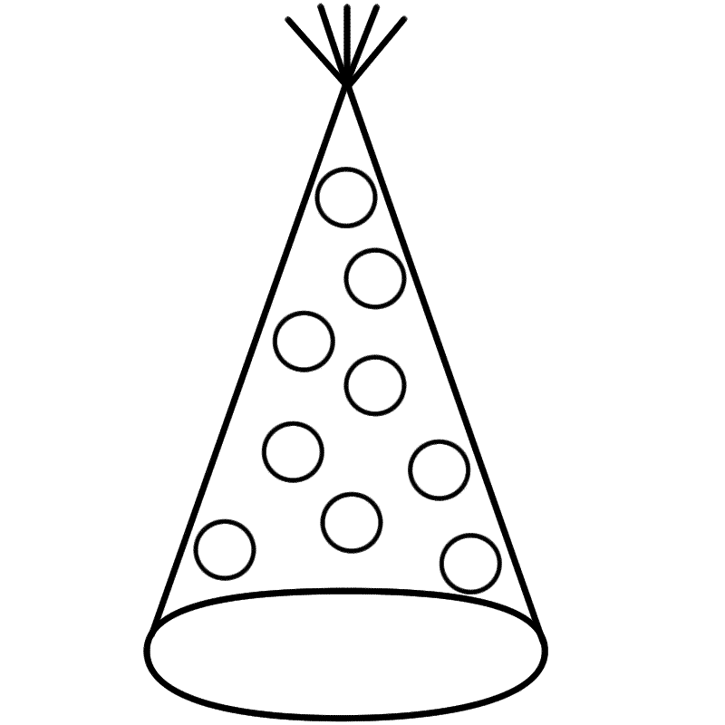 Party Hat With Dots Coloring Page New Years Coloring Pages Frog Coloring Pages Party Hats