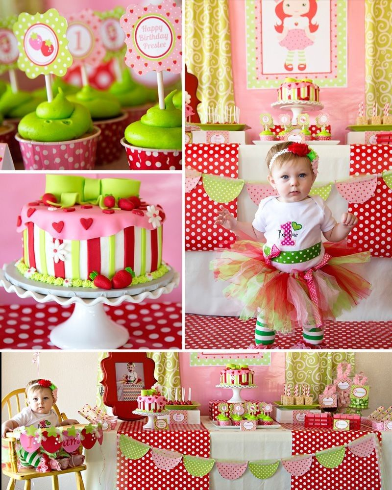 Strawberry Short Cake Birthday Party In 2020 Strawberry Shortcake Birthday Strawberry Party Shortcake Party
