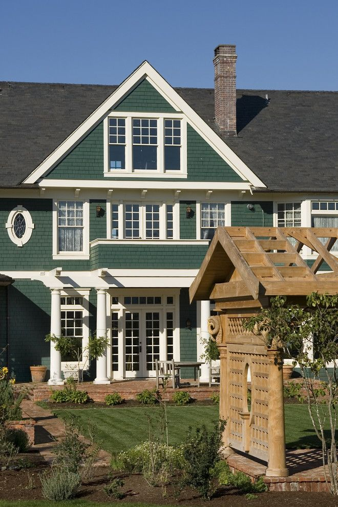 Most Beautiful Exterior Of House Color Combinations Green Wall White Trims Gab Exterior Paint Colors For House House Paint Exterior Green Exterior House Colors