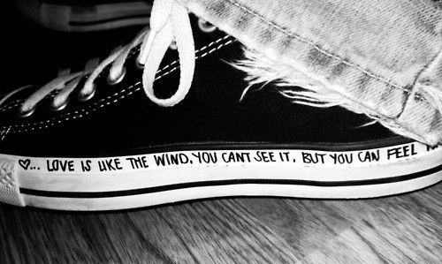Quote Written On Converse - Converse X Play CDG