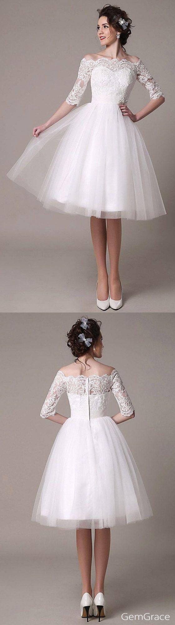 Vintage Short Wedding Dress I Love Vintage This Beautiful Knee