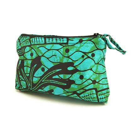 TEAL MAKEUP BAG #AllAcrossAfrica #handcrafted #burundi