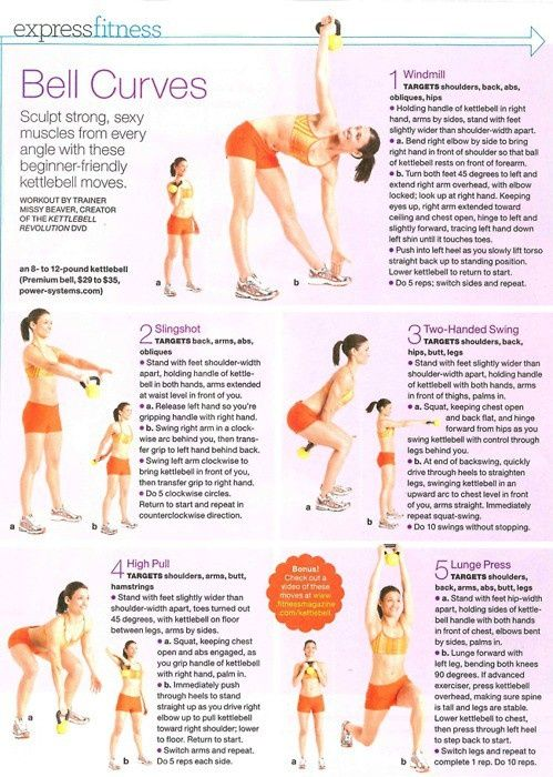 5 exercise kettle bell workout