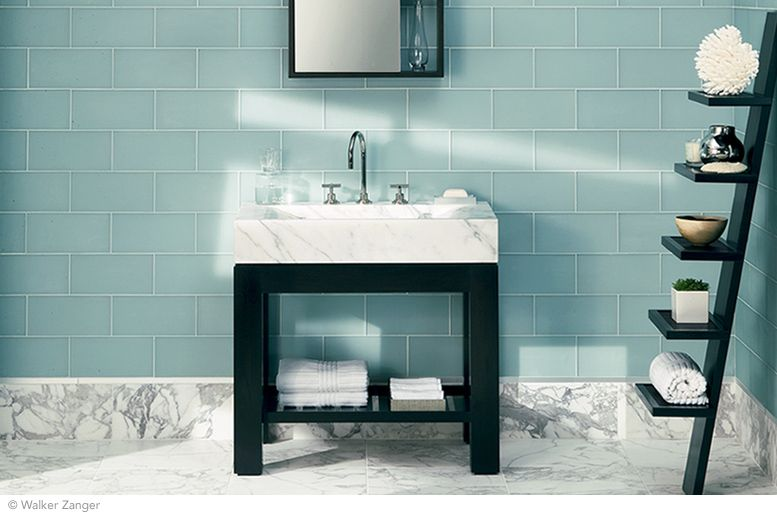 Love this wall tile So great with white, black  grey For